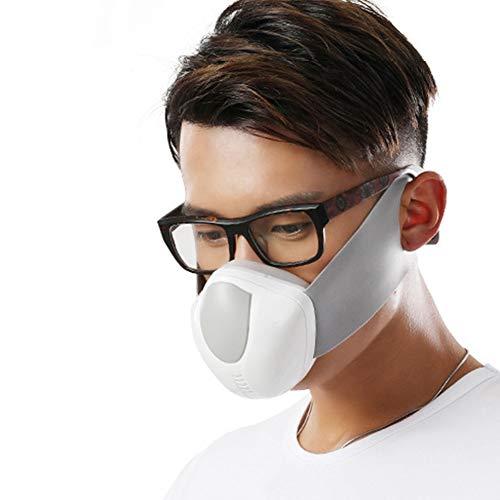 CYCPACK Negativo Smart eléctrico Ion Blanca Respirador de Aire - anticontaminación de la Careta - a Prueba de Polvo del respirador Reutilizable Lavable Filtro de carbón Activado