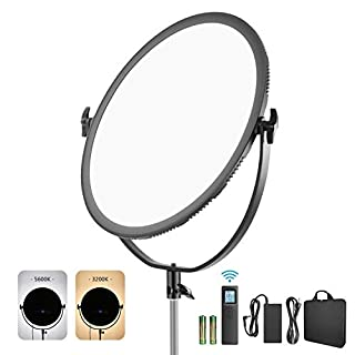 Neewer LED Bi-Color Studio Round Lighting, Ultra Thin Studio Edge Flapjack Light, 21-Inch 70W Dimmable Portrait Light with Battery Holder/AC Adapter/2.4G Wireless Remote (Battery Not Included) (B07WJJZKYJ) | Amazon price tracker / tracking, Amazon price history charts, Amazon price watches, Amazon price drop alerts