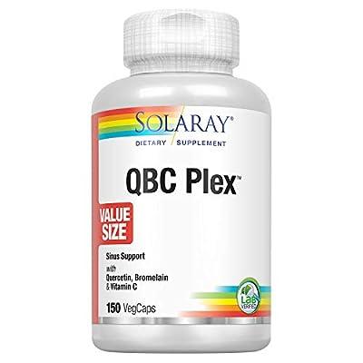 Solaray QBC Plex   Quercetin & Bromelain Plus Vitamin C   Year Round Immune Function & Respiratory Health Support   Non-GMO & Vegan (150 CT)
