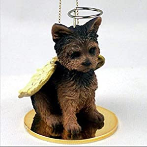 YORKSHIRE TERRIER Dog YORKIE Puppy Cut ANGEL Miniature Christmas Ornament NEW DTA131 by Conversation Concepts