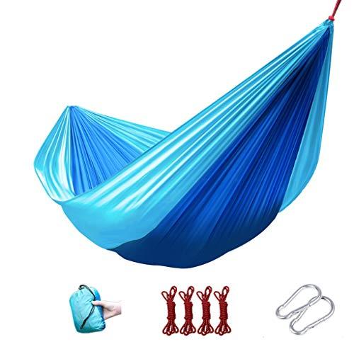 LiRuiPengBJ GWDJ Hamac de camping double avec sangles d'arbre – 240 x 175 cm, intérieur et extérieur, sac à dos pour survie/voyage, portable, 4 couleurs Style1-A
