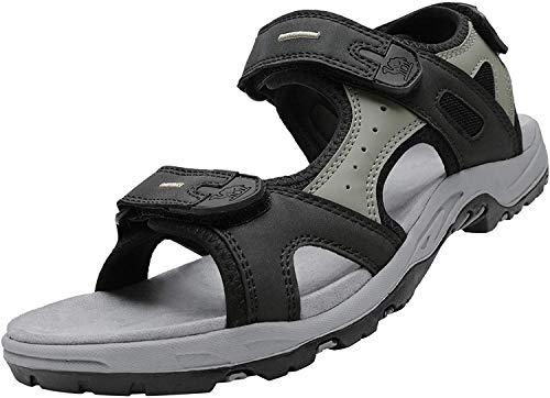 CAMEL CROWN Sandalias de Verano para Hombres Deportivas Velcro Ajustables Antideslizantes para Montaña Playa Viajes Pesca Caminar Sandalias con Punta Abierta 40-46 Planas Comodas