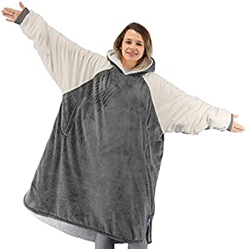 Winthome Soft Cosy Reversible Sherpa Wearable Blanket