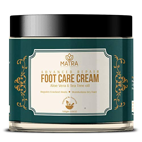 Matra Foot Cream for Cracked Heels and Dry Feet with Aloe Vera & Tea Tree Oil
