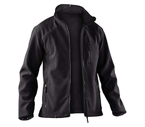 KÜBLER WEATHER Softshelljacke schwarz, Größe XL, Unisex-Arbeitsjacke aus Mischgewebe, wind- und wasserabweisende Softshelljacke von KÜBLER Workwear