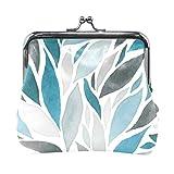 FAJRO - Monedero para mujer, diseño abstracto de ondas de acuarela