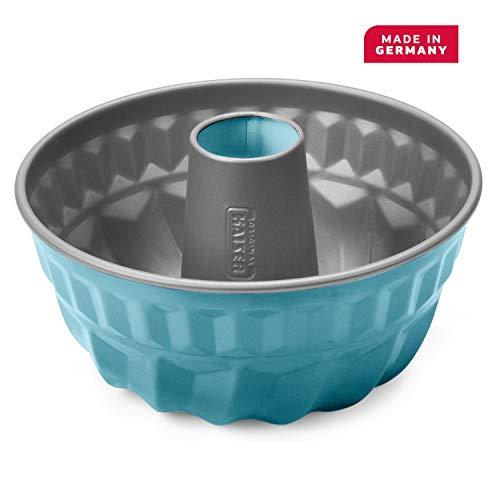 Kaiser Living Color Bund-/ Gugelhupfform 22 cm, Retro petrol, runde Backform, antihaftbeschichtet, gleichmäßige Bräunung, blau