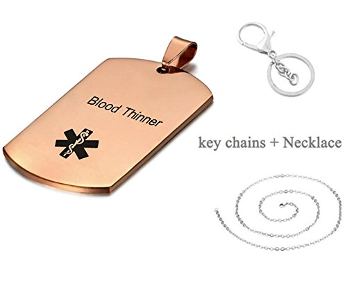 Amazing Deal LiFashion LF 316L Stainless Steel Sos Emergency Blood Thinner Medical Alert Pendant Nec...