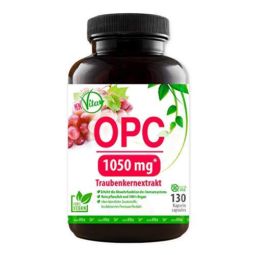MeinVita OPC - Traubenkern Extrakt 1050 mg OPC hochdosiert - Tagesportion, 100% Vegane Kapseln, 1er Pack (1 x 81 g)