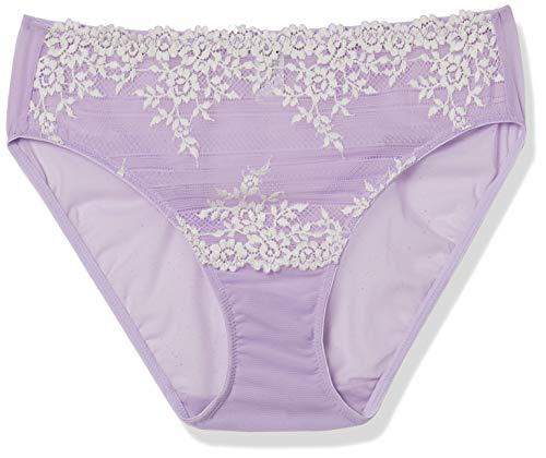 Wacoal Women's Embrace Lace Hi Cut Brief Panty, Lavender, Small