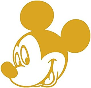 Mickey Mouse-3-Disney-Pegatinas Prespaziato-15 cm, color dorado