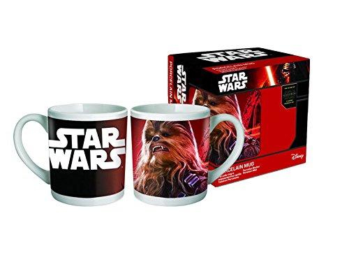BETA SERVICE Star Wars VII-Chewbacca [330 ml] Taza de café, carbón, 15 x 25 x 12 cm