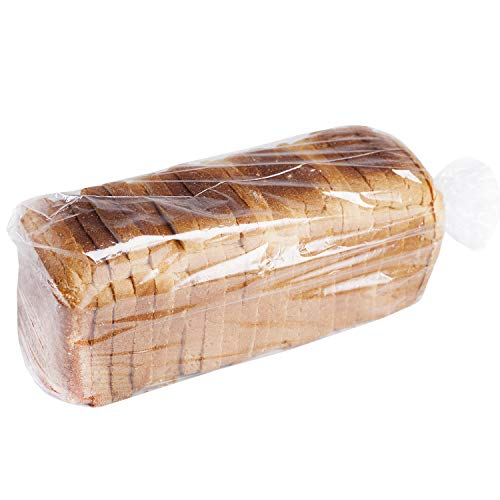Bread Poly Bags,100 Pack 18x4x8 Inches Bread Loaf Packing Bags with 100 Free Twist Ties,Clear Thick Gusseted Grocery Bakery Bags (Large-8x4x18)