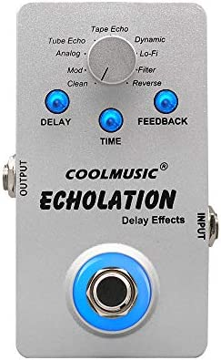 COOLMUSIC A DE01 Echolation Digital Delay Pedal with 9 Effects product image