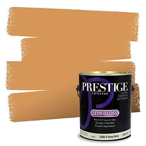 Prestige Paints Exterior Paint and Primer In One, 1-Gallon, Semi-Gloss, Comparable Match of Sherwin Williams* Honeycomb*