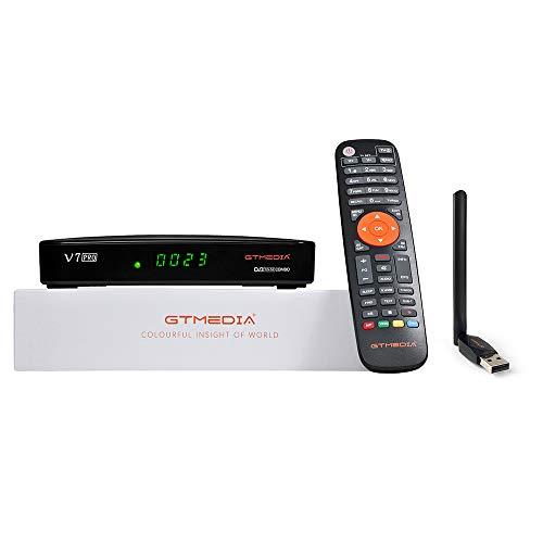 GT Media V7 Pro Decoder, satellitare TDT Combo DVB-S/S2/S2X DVB-T/T2 TV Supporto H.265 10bit con antenna WiFi USB/CA lettore di schede, supporto CCcam Youtube AutoBiss (GT MEDIA V7 Plus migliorata)