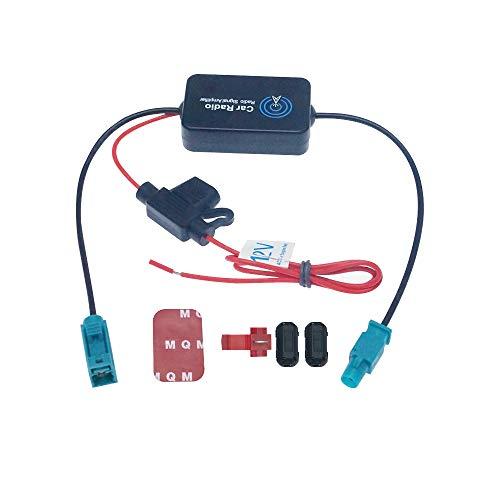 Swetup Autoradio Antennenverstärker, Antennenverstärker Booster Signalverstärker 12v Antennensignal Empfangsverstärker Booster für Fahrzeug KFZ Audio Stereo Radio Autoradio Verstärker