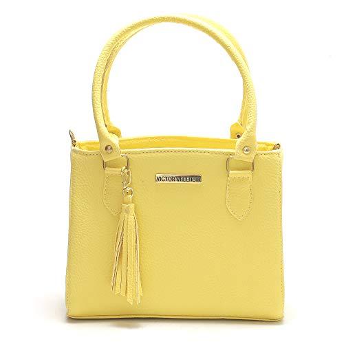 Bolsa Colorida Victor Valencia (Amarelo)
