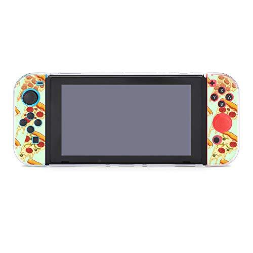 Funda protectora para Nintendo Switch, diseño de pizza, funda duradera para Nintendo Switch y Joy Con