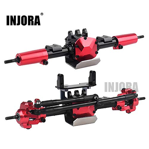 INJORA RC Ejes RC Car Axles Set RC Eje Frontal y Eje Posterior para 1:10 RC Crawler Axial SCX10 II 90046 90047