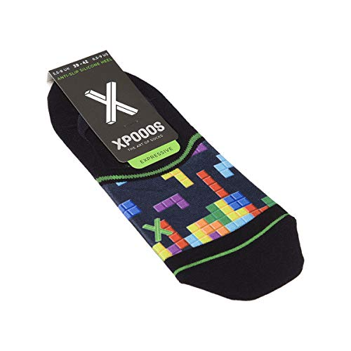Xpooos unsichtbare Socken, 1 Paar, flache Nähte, Original – Fein – Baumwolle Gr. 39/42, marineblau