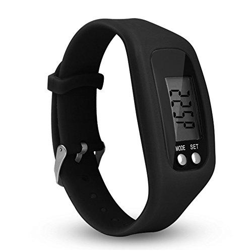 Tookie Reloj de Pulsera con Podómetro LCD, Unisex, para Correr o Caminar, Contador de Calorías, no Necesita Aplicación, 0.02, Color Negro