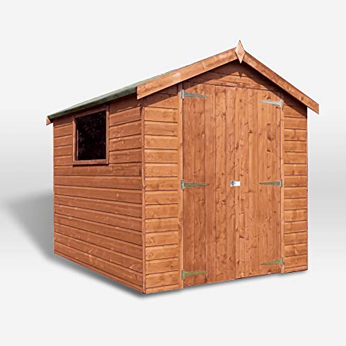 WALTONS EST. 1878 Wooden Garden Shed 8x6 Outdoor Storage Building, Pressure Treated Shiplap, Apex Roof 8ft 6ft