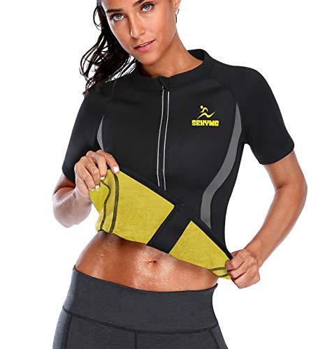 SEXYWG Mujer Camisetas Sauna Chaleco Faja Reductora Neopreno Traje de Sauna Adelgazante