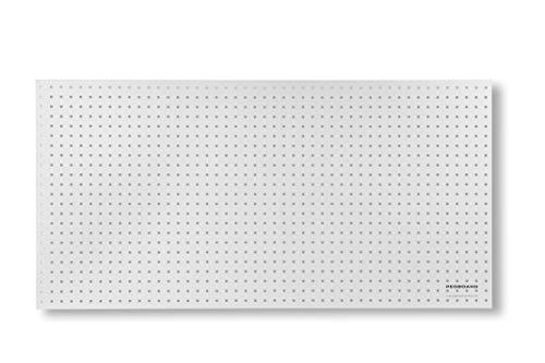 Pared de herramientas de madera – 120 x 60 x 0,5 cm – Perforación Ø 7 mm – MDF lacado blanco (1)