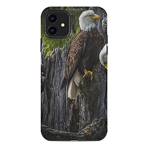 Funda para teléfono con diseño de águilas calvas para Apple Cell Custom Cute Pattern Iphone Accesorios a prueba de golpes Anti-caída Funda de protección para mujeres hombres adolescentes iPhone 11