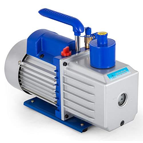 Mophorn Drehschieber-Vakuumpumpe 9CFM 1HP zweistufig HVAC Auto AC Kältemittel Luftvakuumpumpe Weinentgasung Melken Medizinische Lebensmittelverarbeitung Klimaanlage Vakuumpumpe (9CFM 1HP + 2 Stage)