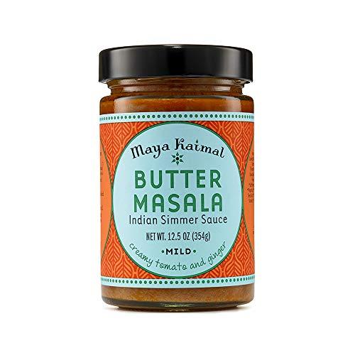 Maya Kaimal Butter Masala Sauce 125 oz Mild Indian Simmer Sauce with Creamy Tomato and Ginger Vegetarian Gluten Free