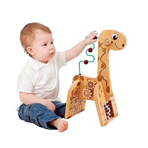 Soul hill Holz Aktivität Cube 6 in 1 for Baby-Tier-Rotwild Holz Würfel-Spielzeug pädagogisches Spielzeug-Geschenk for Kleinkinder und Kinder zcaqtajro
