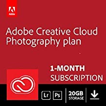 Adobe Creative Cloud Photography plan 20 GB (Photoshop  + Lightroom) | 1-month Subscription with auto-renewal, PC/Mac