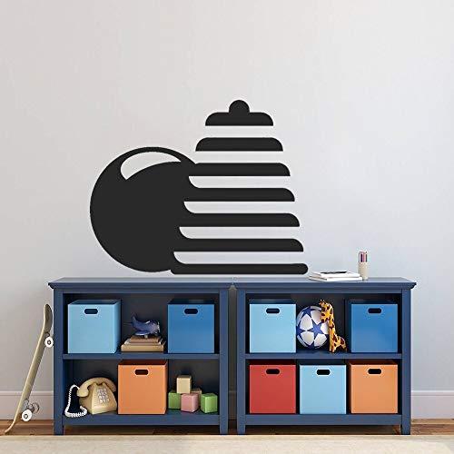 wZUN Kinderspielzeug und Ball Wandaufkleber Kinderzimmer Dekoration Karte Design 57x45cm