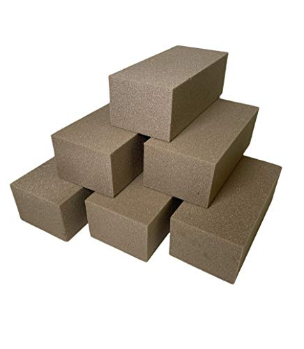 6 x Dry Sec Bricks for Silk & Artificial Flowers Floral Foam Sponge for...