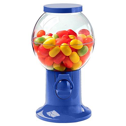 Kaugummiautomat Bonbonspender Süßigkeitenautomat Ca. 22cm mit Großer Befüllöffnung in Verschiedenen Knalligen Farben (Blau)