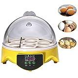 Home Incubatrice automatica per uova, Mini incubatrice per uova Digital automatica 7 uova per galline Anatre Uccelli Fagiano quaglia e tartaruga uova