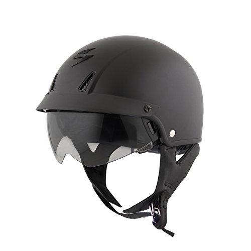 ScorpionExo Unisex-Adult half-size-helmet-style EXO-C110 Helmet (Matte Black,Large), 1 Pack