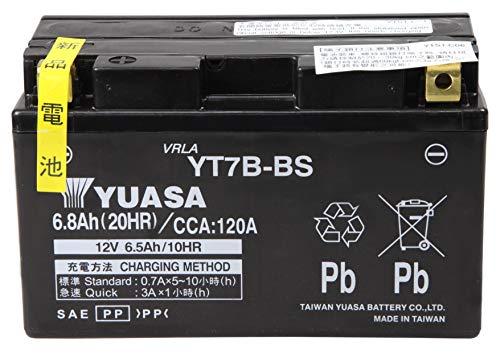 【Amazon.co.jp限定】 TAIWAN YUASA 【台湾ユアサ】 AGM-BIKE-BATTERY クロス付 YT7B-BS