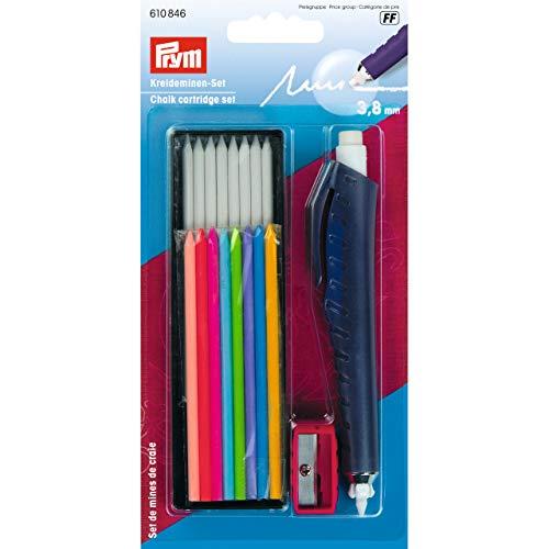 Prym Juego de Cartuchos de Tiza Escribir/marcar y Dibujar en Textiles/Papel/Madera/plástico, plástico/Metal, Multicolor