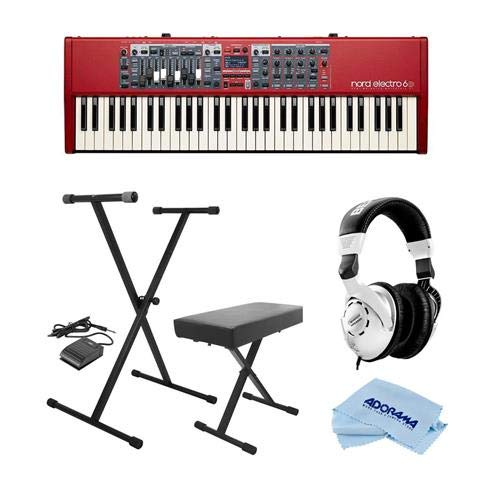 Find Bargain NORD Electro 6D 61-Note Semi-Weighted Waterfall Keybed - Bundle with On-Stage KPK6520 K...
