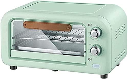Mini horno, tostadora retro multifunción, control de temperatura ajustable Compacto eléctrico 3...