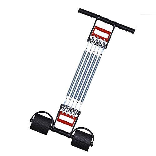 COVVY 3 in 1 Multifunktionale Sportgerät Bauchtrimmer + Handgreifer + Expander mit 5 Federn für Brust Hand Arm Training|Übungen Expander Muskelaufbau
