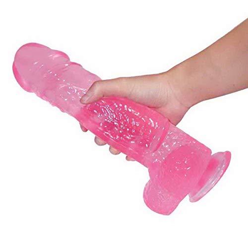 VERY 11in / 28cm Rosa dünnes Silikon-Spielzeug mit für Frauen Geschenk Auto Frauen Vergnügen Massaging