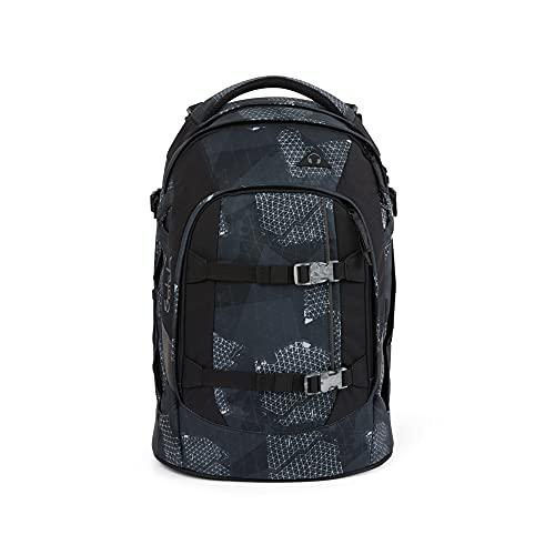satch Pack Infra Grey, ergonomischer Schulrucksack, 30 Liter, Organisationstalent, Grau