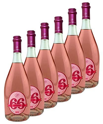 Spuma66 - Vino rosato frizzante - 11% alc. - 6 bottiglie da 750 ml - Cantine Mediterranee