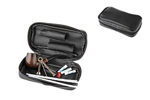 Angelo hochwertiges 9 teiliges Pfeifen Einsteiger Set inkl.schwarzer Tasche.Pfeife gebogen & Zubehör