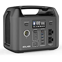 Golabs R300 299Wh Portable Power Station with LiFePO4 Battery, 60W Type-C PD Quick Charge and 300W Pure Sine Wave AC Outlet (Black)