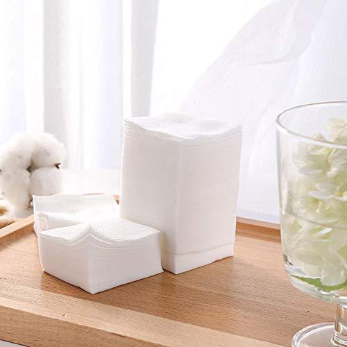 1000 Pièces cosmétique Tapis molletonné démaquillant Multifonctionnel et Un Tampon de Coton de lumière (Plastique)